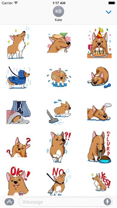 Lovely Welsh Corgi Dog Sticker screenshot 1