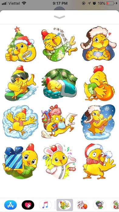Christmas Chicken Chuu Sticker screenshot 1