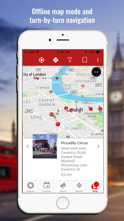 London travel map guide 2018 screenshot-3