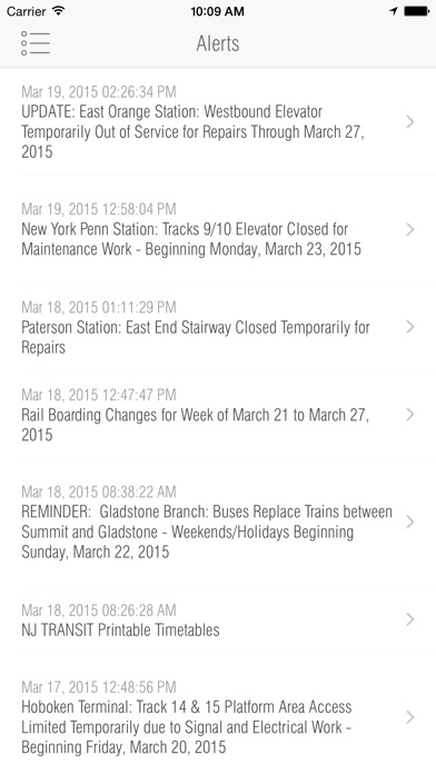 New Jersey Rail - Departures App Report on Mobile Action