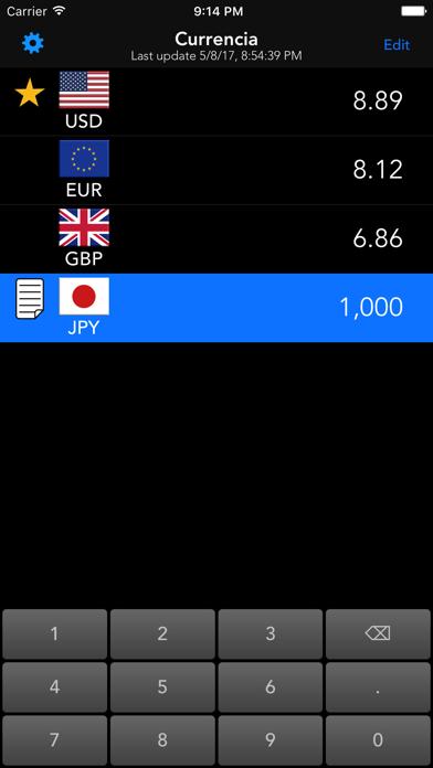 Currencia screenshot one