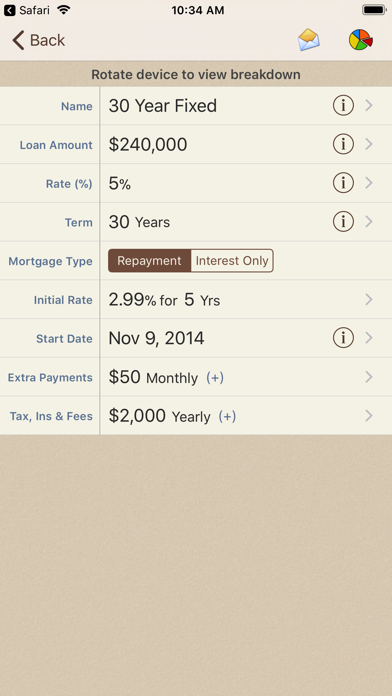 Mortgage Calculator review screenshots