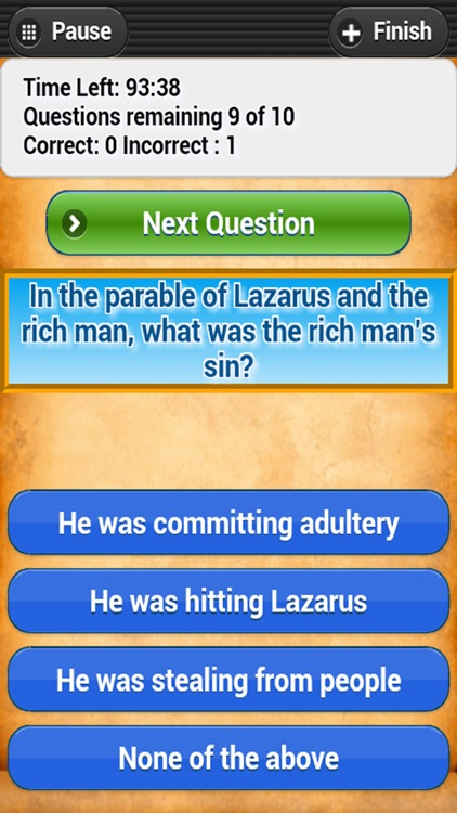 Bible Trivia Quiz - No Ads - Bible Study screenshot-1