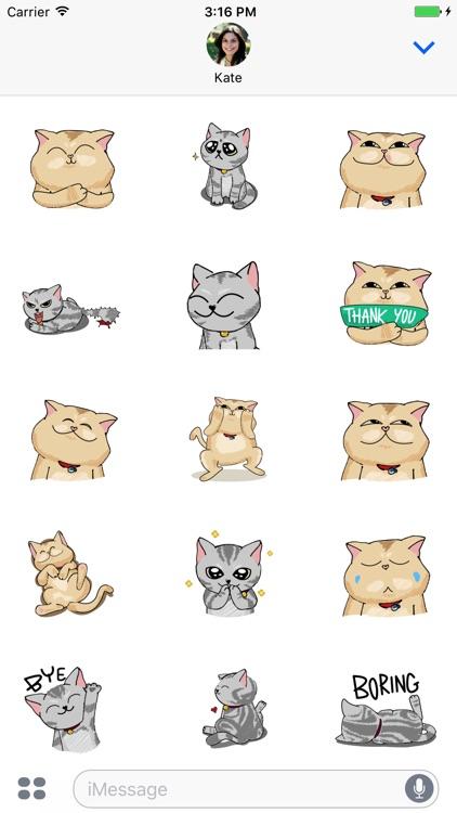 Jiggling Cat Animated Emoji Stickers