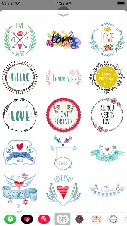 Hand Drawn Love Message Set