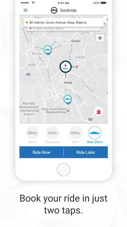 GetAride - Taxi from Getittome