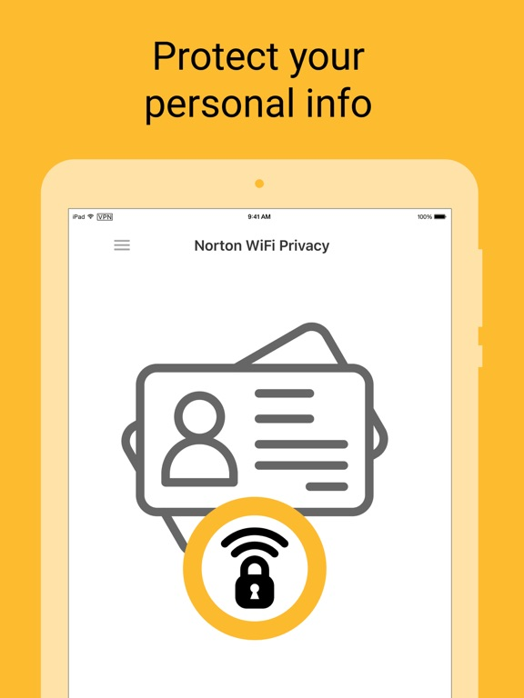 Norton WiFi Privacy VPN Proxy iPad