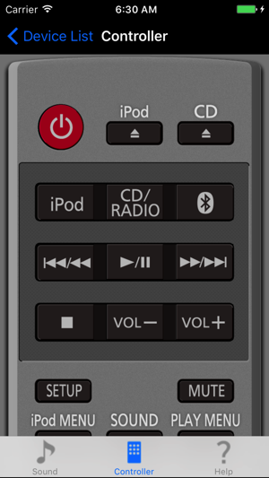 Panasonic Stereo Remote 2012 on the App Store