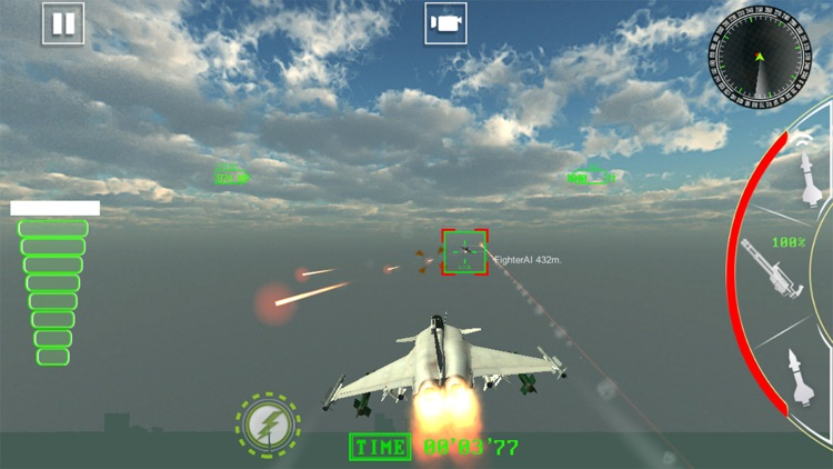 Air Jet Fighter Missile Attack screenshot-4