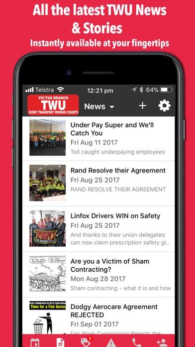 TWU VIC / TAS screenshot two