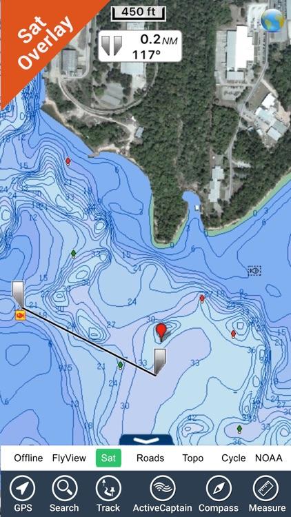 Eufaula lake Oklahoma GPS fishing offline charts