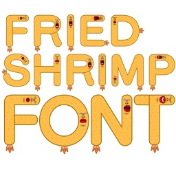 Fried Shrimp Alphabet design