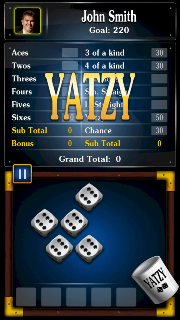 Yatzy Dice Game for Buddies Screenshot