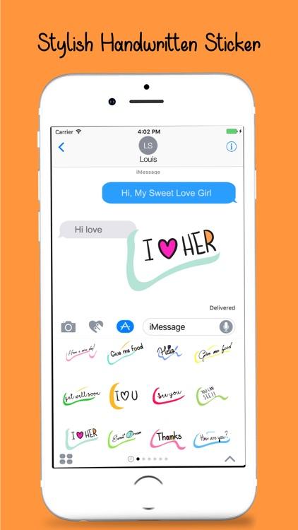 Handwritten Message Stickers Pack screenshot-3