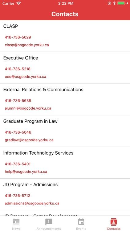 Osgoode Hall Law School Mobile screenshot-3