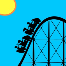 Roller Coaster Theme Park Stickers