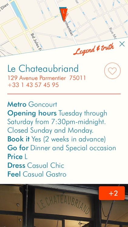 ParisEats - curated selection of Paris restaurants screenshot-1