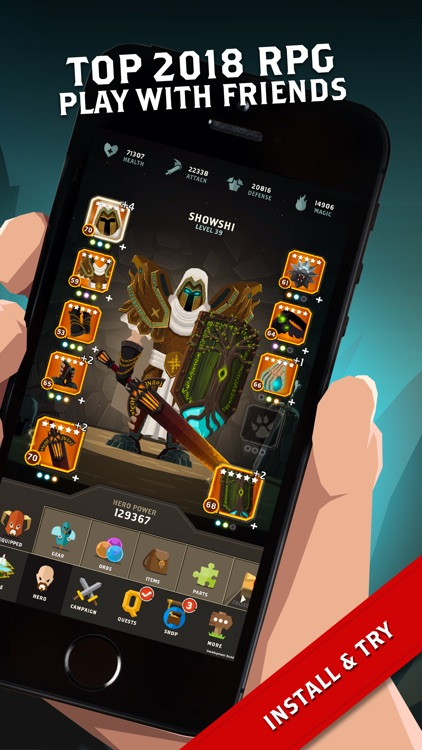 Questland: Turn Based RPG screenshot-0