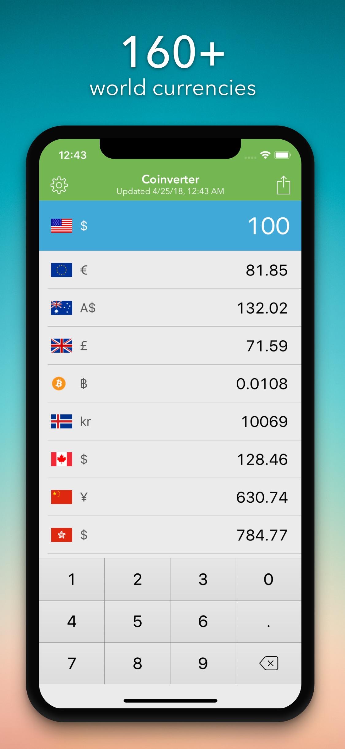 Screenshot do app Coinverter