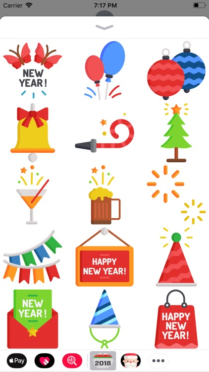 New Year 2018 Stickers Pack