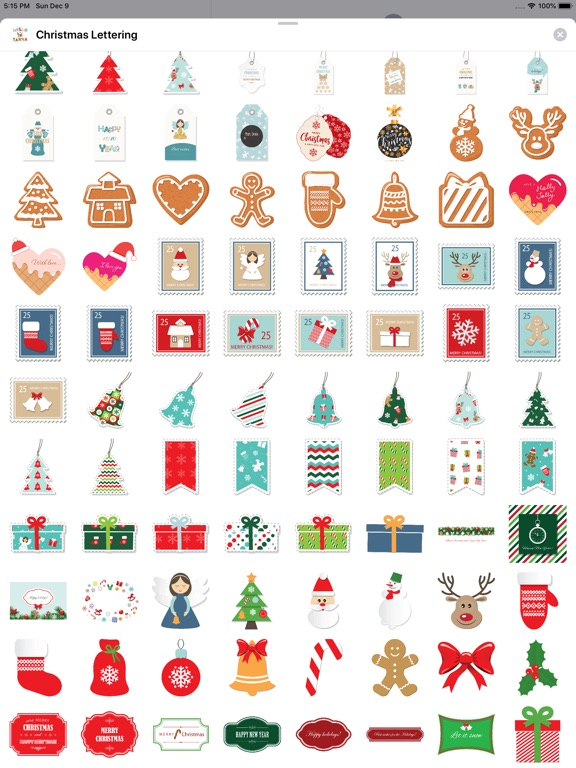Christmas Lettering Stickers . screenshot 9