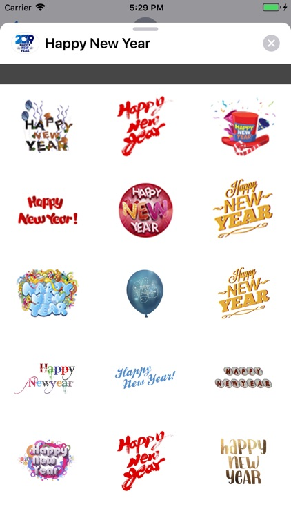 Stickers Happy New Year 2019