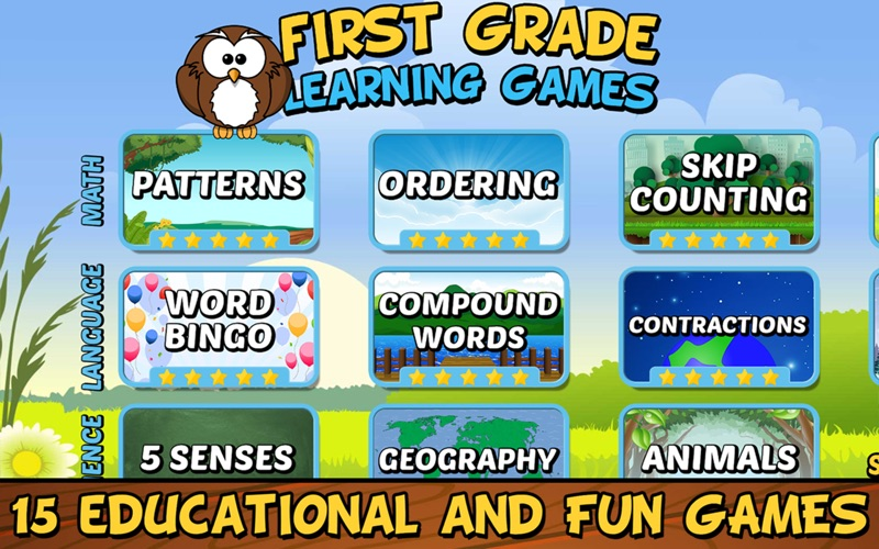 First Grade Learning Games App Price Drops