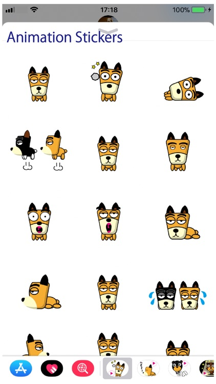 TF-Dog Animation 3 Stickers