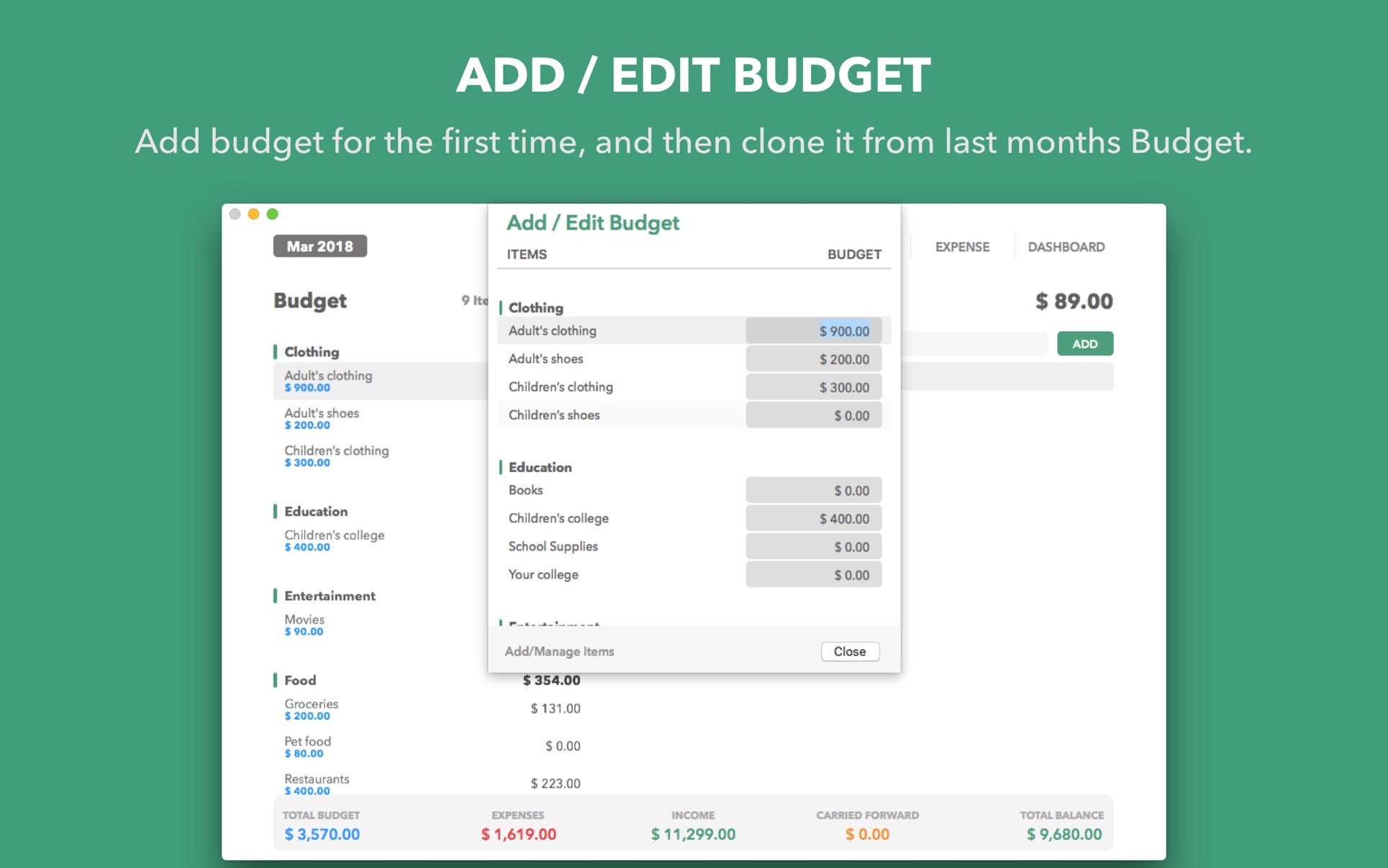 ‎Budget Manager on the Mac App Store