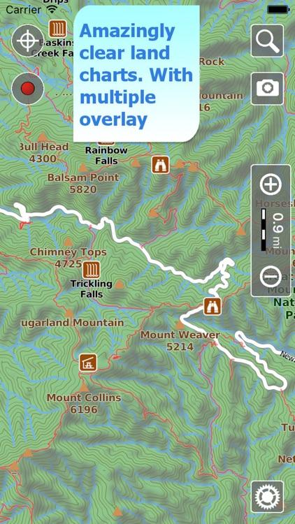 Terra Map Pro, GPS Hiking maps screenshot-0