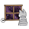 Animated Lonely Cat Stickers
