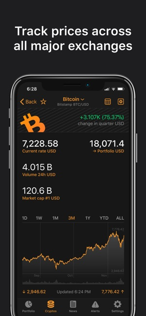 Crypto Pro: Bitcoin Ticker Screenshot
