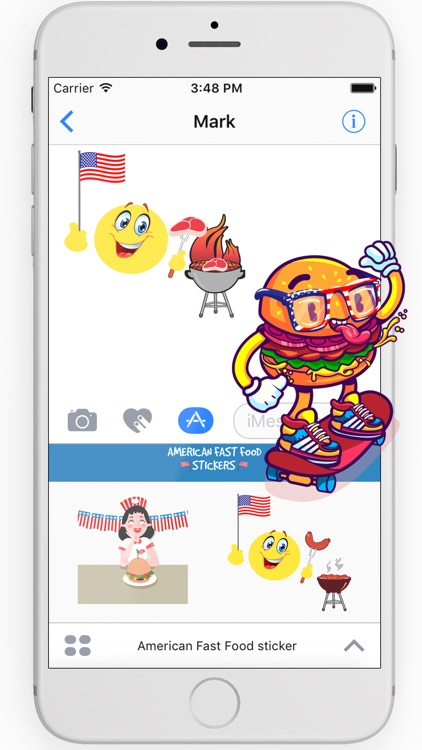 American Fast Food sticker pack