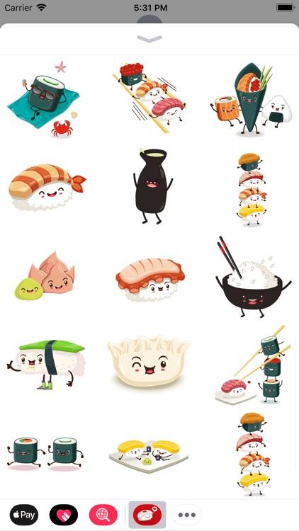 Funny Sushi Stickers screenshot-3