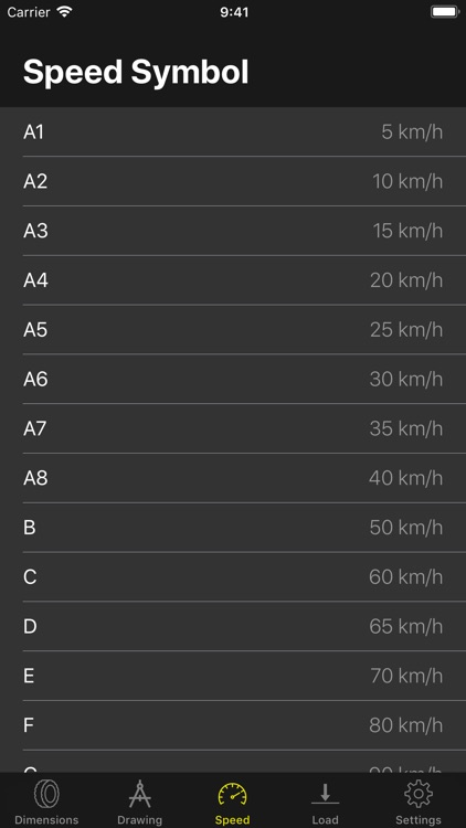 Tyre Dimensions screenshot-4