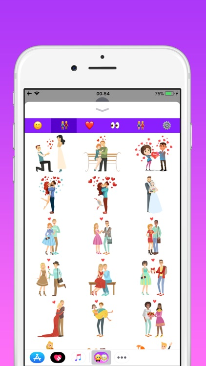 Couples in love emoji screenshot-1