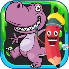 Activities of Cute Dinosaur Coloring Book