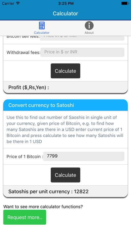 Bitcoin Price Calculator