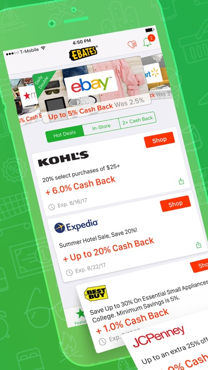 Ebates: Cash Back & Savings screenshot-0