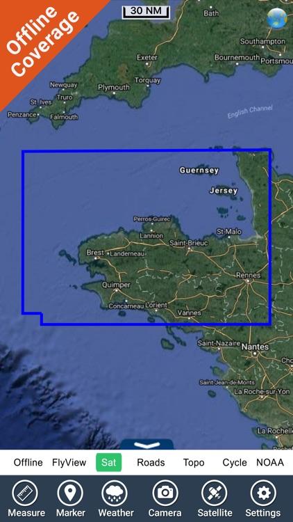 Brittany Nautical Charts GPS screenshot-4