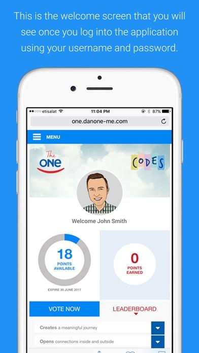 Danone The ONE screenshot