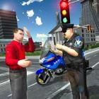 piloto moto policía tráfico 3D icon