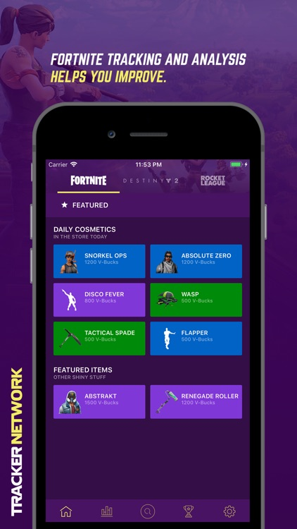 Tracker Network for Fortnite