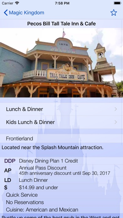 Dining At Disney World review screenshots