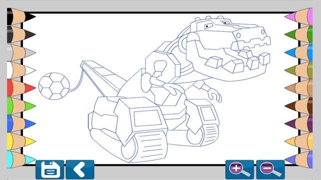 Dino Robot Boyama Kitabı App Storeda