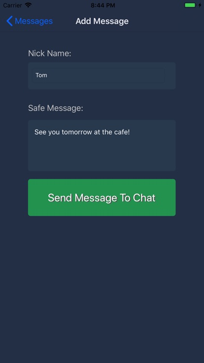 Safe Chat - Lock note message