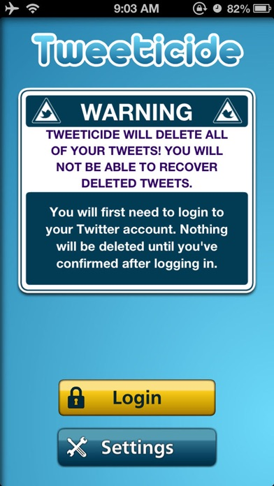 Tweeticide - Delete All Tweets app image