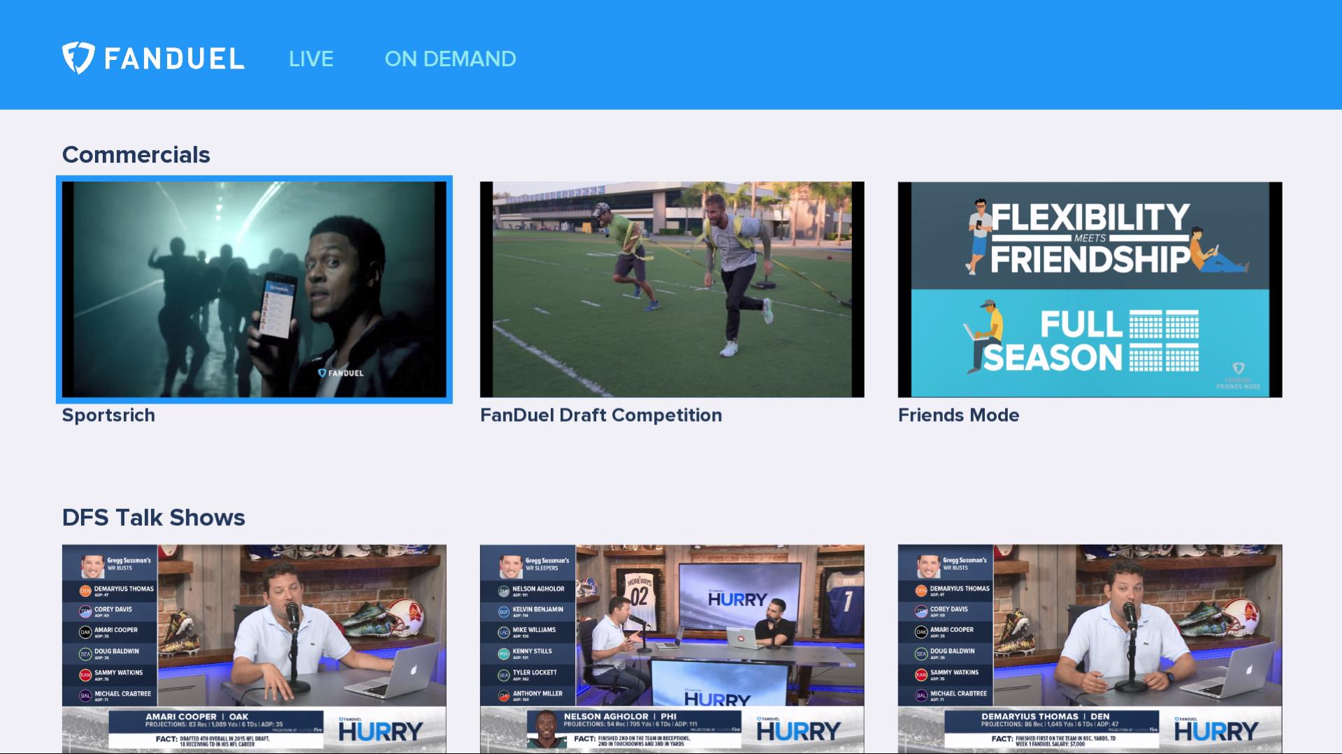 FanDuel TV screenshot 1