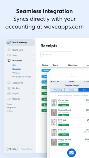 how to enter a return in receipts wave accounting