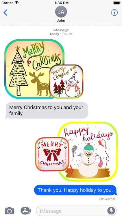 Christmas Card Stickers Pack screenshot-3